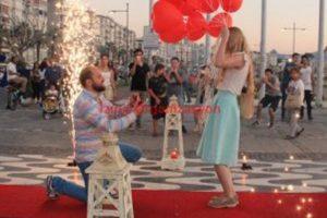 Uçan Balon Evlenme Teklifi