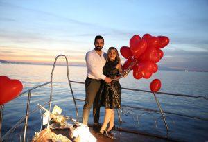 İzmir Körfezinde Evlenme Teklifi Organizasyonu
